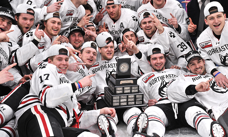 Different' Northeastern produces same results, wins Hockey